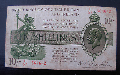 Great Britain ND 1919 10 Shillings P356