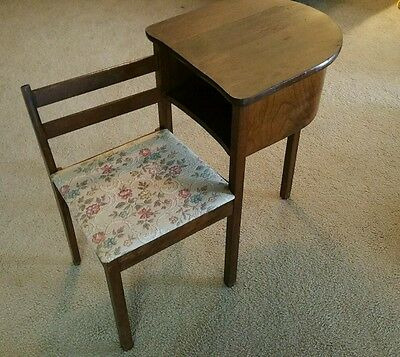 Vintage Telephone Table Gossip Bench