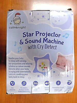 Star Projector Sound Machine with Cry Detect By Calm Knight, Noise Soother (s92)