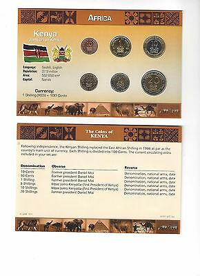 KENYA UNCIRCULATED COIN SET!  Africa!  Shilling Cents!  6 coins!  LCC