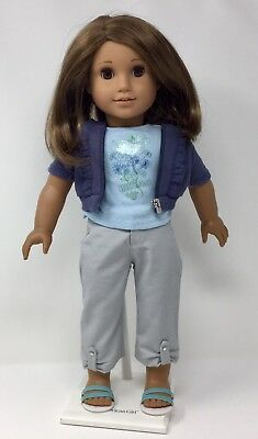 American Girl Doll Ruffled Hoodie Outfit Shirt Hoodie Pants Shoes Charm RETIRED