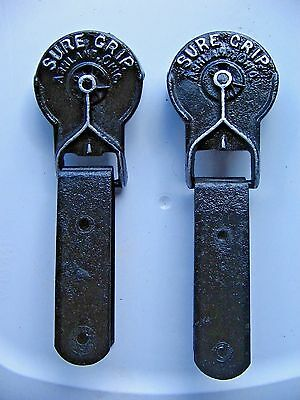 Vintage Myers Cast Iron Sure Grip Barn Door Rollers Hangers Stay On Home Barn