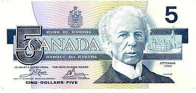 Canada ... P-95a1 ... 5 Dollares ... 1986 ... Ch.*XF*  Replacement.