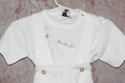 Vtg Babes by Infanta 2pc Sweater & Pants Set White Pre-Owned