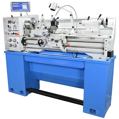 "Pm1440Bv Metal Lathe, 2"" Spindle Bore 2-Axis Dro Installed, Qctp, Variable Speed"