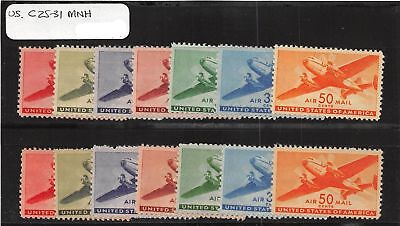 Lot of 42 U.S. MNH Mint Never Hinged Air Mail Stamps Scott # C25-C31 #111261 X R