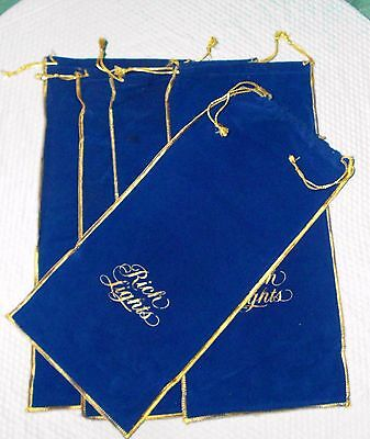 RARE VINTAGE RICH LIGHTS VICEROY CIGARETTES Velvet Bag Draw String ( LOT OF 5 )