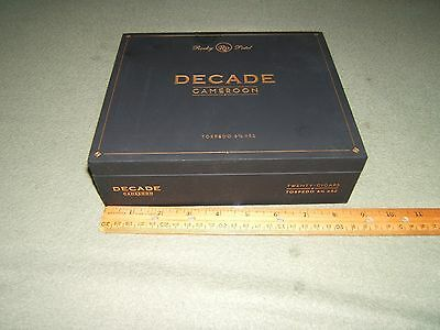 Decade Cigar Wood Box Cameroon Rocky Patel Torpedo