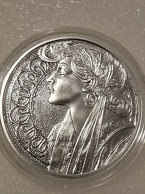 Alphonse Mucha 1 oz .999 silver coin LAUREL #6 in Art series collection limited