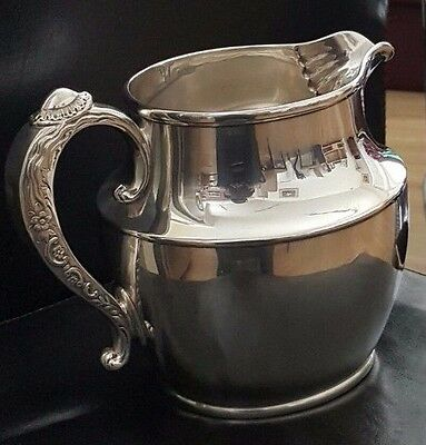 1884 TIFFANY Sterling Silver Water 44oz Pitcher 700gr. Waves, Holloware