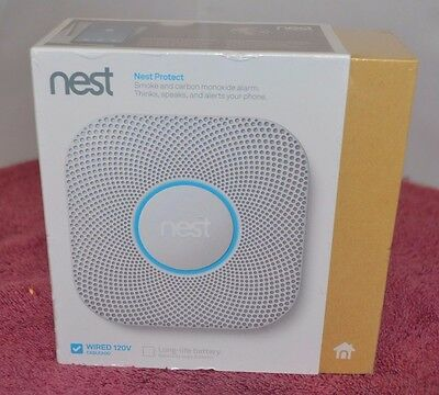 Nest Protect Smoke and Carbon Monoxide Alarm Wired 2nd Generation S3003LWES-New