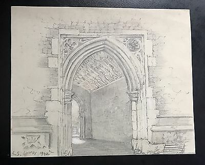 Original Vintage rare pencil drawing hand signed L S Lowry 1942