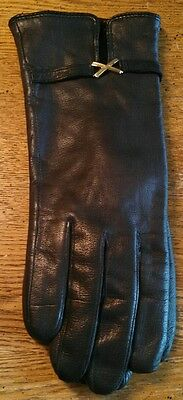 Vintage Beautiful Black Gloves Sewn In Philippines ~ Size Small