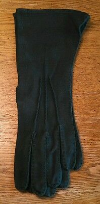 Vintage Beautiful Green Marvelour Kayser Gloves Hand Sewn Made In USA Size Small