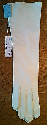 Vintage Beautiful White Van Raalte Cabretta Leather Gloves NWT ~ Size Small