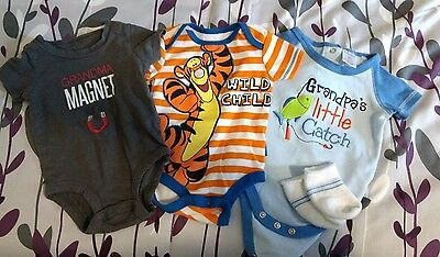 Baby boy one piece outfit lot