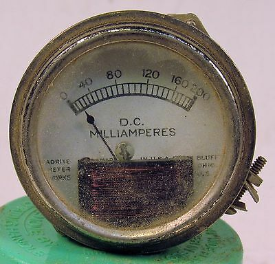 Readrite Meter Works Milliampres Gauge - Reads Up To 200 Milliampres D.c.