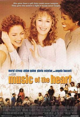 Music of the Heart 1999 single sided one sheet - 27x40 rolled - free shipping