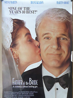 Father of the Bride 1991 single sided one sheet - 27x40 rolled - free shipping