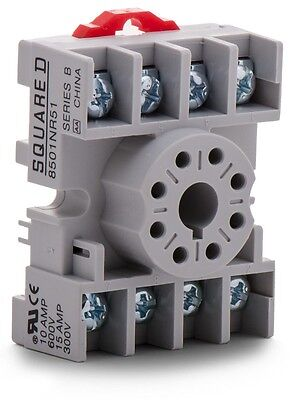SQUARE D 8501NR51 Series B Relay Socket NEW In Box