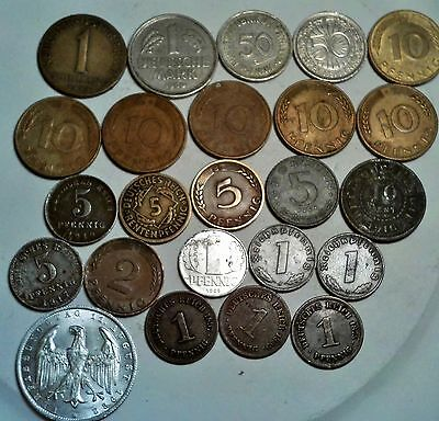 Germany Lot Of 29 Coins Some From The 1800's  See Desc. For Breakdown
