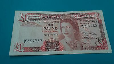 1979 Government of Gibraltar One Pound Banknote.VF