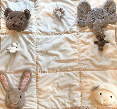 Pottery Barn Kids Animal Plush Play Mat-New-Nursery-Bear/Sheep/Elephant/Bunny