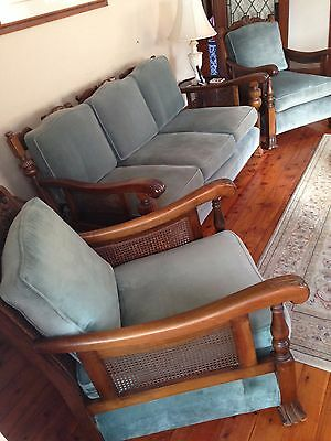 Antique 3 Piece Jacobean Lounge Suite c.1930s - Restored