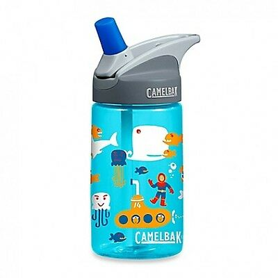 NEW Camelbak Eddy Kids 400ml Water Drink Bottle Sea - Spill Proof Child Safe