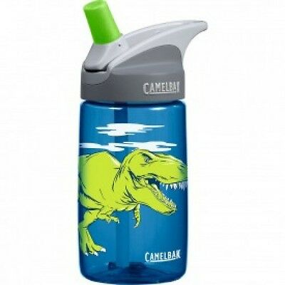NEW Camelbak Eddy Kids 400ml Water Drink Bottle T-Rex Dinosaur Dino Spill Proof