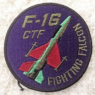 F-16 CTF Fighting Falcon Patch Blue US Air Force USAF Embroidered Sew On