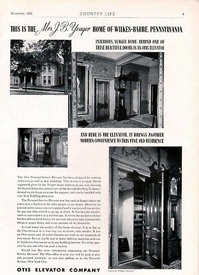 1936 Otis Elevator Home Photo Yeager Wilkes-Barre Ad6307