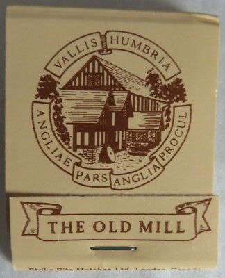 Vintage The Old Mill Restaurant Toronto Unused Matchbook              (Inv14086)