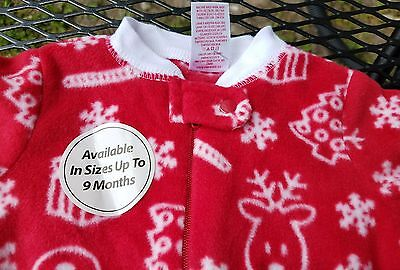 girls boys new red Christmas sleep and play holiday time  0 to 3 months