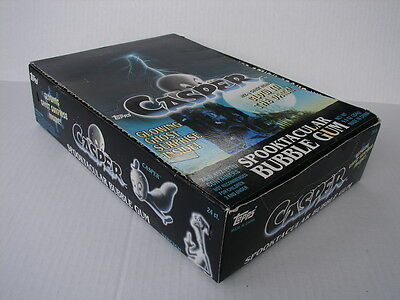 EMPTY TOPPS 1995 Casper Friendly Ghost SPOOKTACULAR BUBBLE GUM store display Box