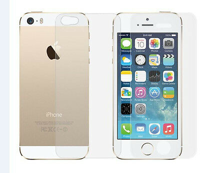 Front + Back Premium 9H Tempered Glass Film Screen Protector for Apple iPhone