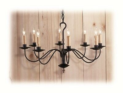 Colonial Primitive Country Lighting wrought iron style metal chandelier C409-8