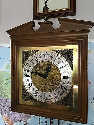 Vintage German Weight Driven Wall Clock