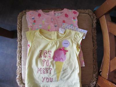 F&F baby t-shirts size upto 3 months new