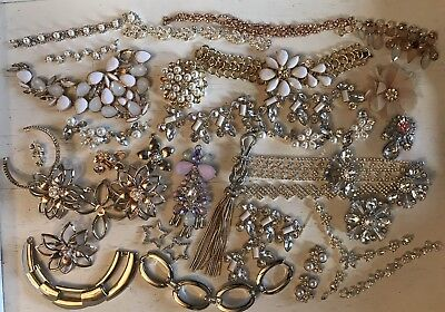 Lot (Y13) Broken Jewellery Up-Cycling Shabby Chic Vintage Style Crafts Repair