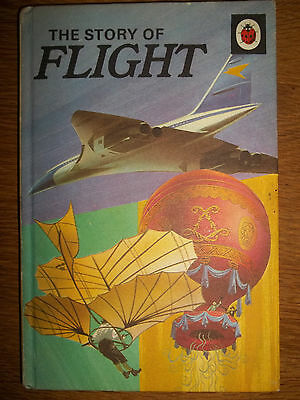 Vintage LADYBIRD Book The Story of FLIGHT matt cover. Printed price 50p