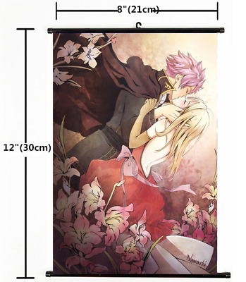 "Hot Japan Anime Fairy Tail Natsu Home Decor Poster Wall Scroll 8""×12"" 05"