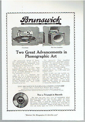 Original, 1920 - Brunswick Phonographs and Records Advertisement