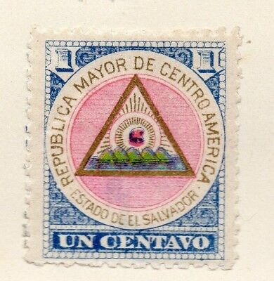Salvador 1897 Early Issue Fine Mint Hinged 1c. 162588