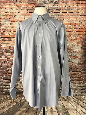 Brooks Brothers Men's Cotton Non Iron Long Sleeve Dress Shirt Size 18-35