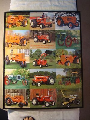 Allis Chalmers Framed Poster/Gathering,Coming Home.