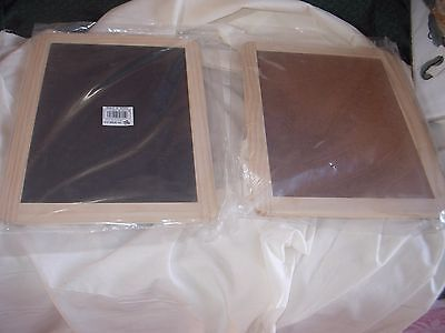 Set Of 3 Chalkboard/cork Board Wood Frames 12 By 9  Sealed In Packages New