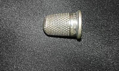 Solid Silver Size 6 Charles Horner Thimble Hallmark Chester 1916