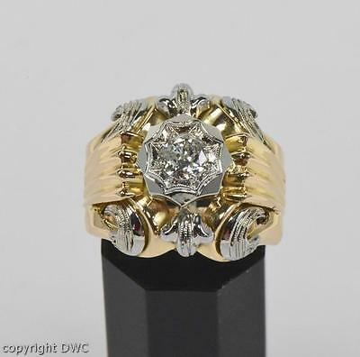 Diamantring Ring mit Brillant Diamant Diamanten in 750 aus Gold Antik 18Kt 57