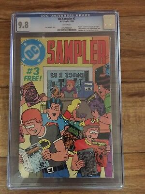 DC Sampler 3 9.8 White Pages First John Constantine in Cameo Pre Dates All Else